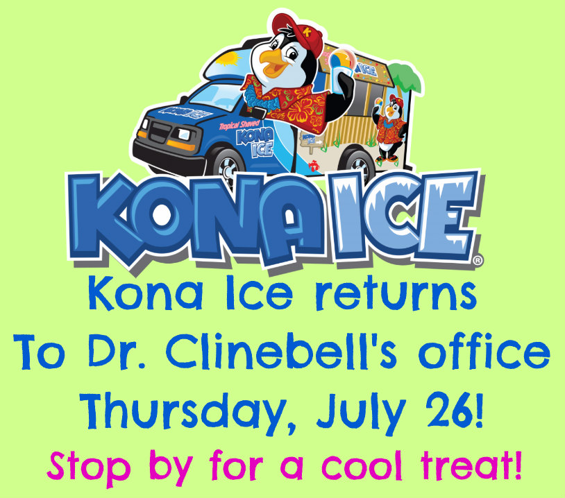 DrClinebell Kona Ice We Love Our Patients July 2018