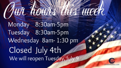 hours week of july 4 2019  Clinebell Orthodontics children kids adults